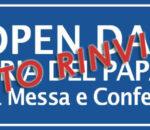 (Italiano) <strong>RINVIATO:<strong> Open day per il centenario della nascita di Papa Giovanni Paolo II